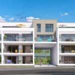 Tekening vooraanzicht residentie – De Beemd Genk (B)