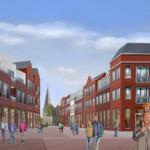 Tekening van straatbeeld Kwartierstaete & Torenveste – Stramproy